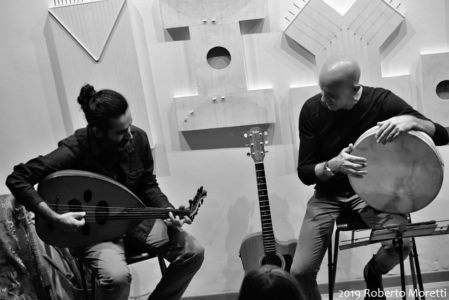 Pejman Tadayon con Nabil Bey (Radiodervish)