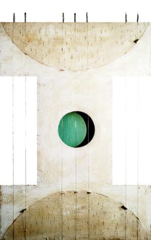 Vibrazione di un sole turchese, 2016, Tecnica mista su tavola, 75 x 50 cm